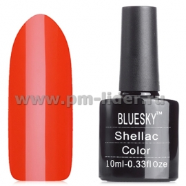 Гель-лак Shellac BlueSky, цвет: 80577 ELECTRIC ORANGE