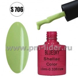Гель-лак Shellac BlueSky, цвет №706