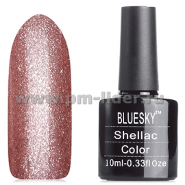 Гель-лак Shellac BlueSky, цвет: 40544/80544 TINSEL TOAST